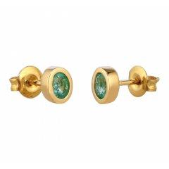 thumbnail Pendientes oro con esmeraldas y diamantes Bernat Rubí 02-153768E