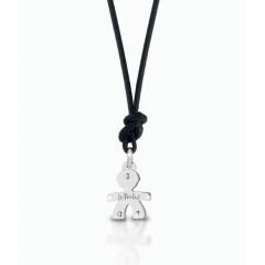 Colgante leBebé gioielli LBB045 Niño Oro Blanco Mini