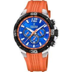 Reloj Festina Chrono bike F20523/6 caucho naranja