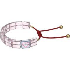 Pulsera Swarovski letra corazón 5615001 rosa