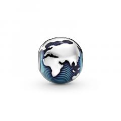 Clip Pandora 799429C01 Globo azul mujer plata