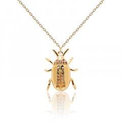 Collar Balance beetle P D Paola CO01-257-U plata