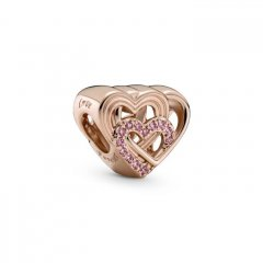 Charm Pandora corazones de amor 789529C01 rose