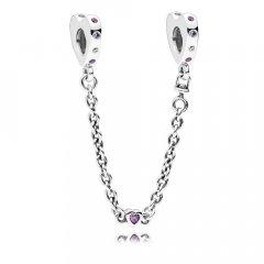 Abalorio Cadena de seguridad Pandora 797245NRPMX-05 mujer plata Circonitas Lazos Brillantes