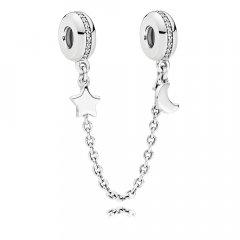 Abalorio cadena de seguridad Pandora 797512CZ-05 mujer plata circonita