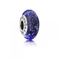 AbalorioPandora 791646 Plata Cristal de Murano Facetado Iridescente