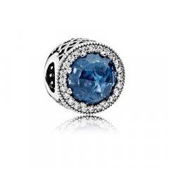 Abalorio Charm  Pandora 791725NMB Mujer Plata Azul Luz de Luna