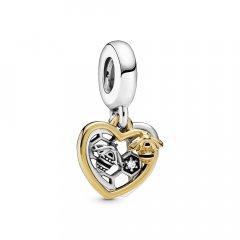 Abalorio Colgante Pandora 768838C01 mujer plata y plata chapado en oro.