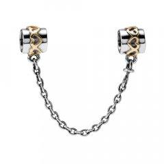 Abalorio Pandora 790307-05 mujer plata y oro Corazones Oro