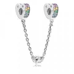 Abalorio Pandora 797021NRPMX-05 mujer plata Arco de Amor Multicolor