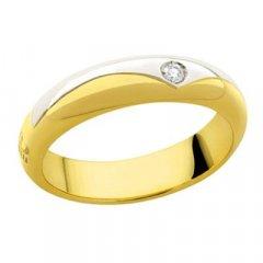 thumbnail Alianza de Boda Davite & Delucchi AA2015D Aurora Oro blanco y amarillo Diamantes