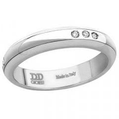 Alianza de Boda Davite & Delucchi AA2007D Sublime Oro Blanco Diamantes