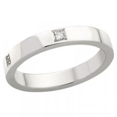 Alianza de Boda Davite & Delucchi AA2013D Insieme Oro Blanco Diamantes