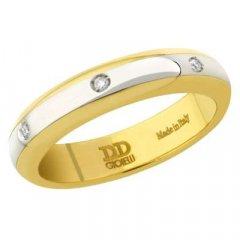 thumbnail Alianza de Boda Davite & Delucchi AA2019D Albraccio Oro blanco y amarillo Diamantes