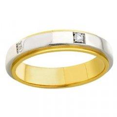 thumbnail Alianza de Boda Davite & Delucchi AA2014D Incanto Oro blanco y amarillo Diamantes