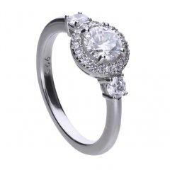 Anillo CLASSIC DIAMONFIRE 6109941082175 mujer plata