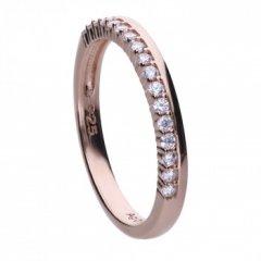 Anillo Diamonfire 6121001082160 mujer plata chapado oro rosa circonitas