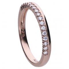 Anillo Diamonfire 6121001082170 mujer plata chapado oro rosa circonitas