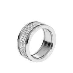 Anillo Fossil JF00442040505 Mujer Acero Cristal Plateado