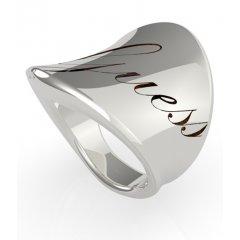 Anillo GUESS Liquid ring UBR79045-56 acero plateado