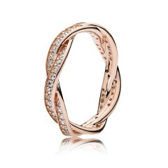 Anillo Pandora 180892CZ-50 Mujer rosa Circonitas Giro del Destino Rose