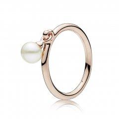 Anillo Pandora 187525P-54 mujer plata rosa perla