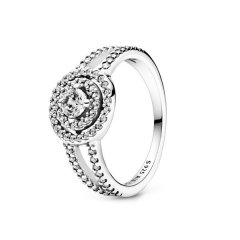 Anillo Pandora 199408C01-52 Doble halo plata