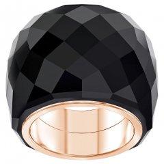 Anillo SWAROVSKI 5474367 NIRVANA, negro, tono oro rosa
