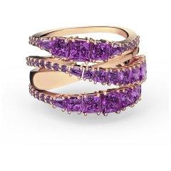Anillo Swarovski Twist Wrap 5572714 mujer violeta