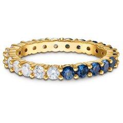 Anillo Vittore Half XL SWAROVSKI 5535211 azul, baño tono oro