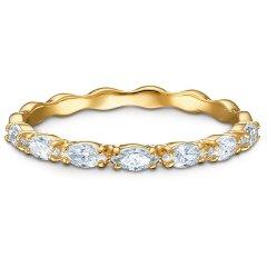 Anillo Vittore Marquise SWAROVSKI 5525118 blanco, baño tono oro