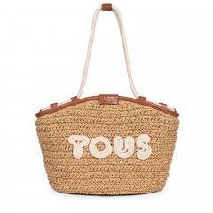Bolso capazo Tous 195960742 Craft marrón y beige