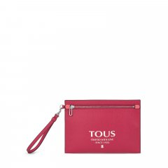 Bolso clutch Tous 095900687 Essential multi rosa