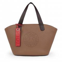 Bolso shopping grande Tous 095900660 Leissa de Piel color marrón