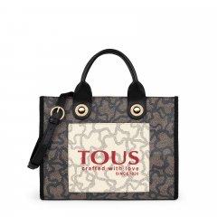 Bolso shopping mediano Amaya Kaos Tous 095900641 negro