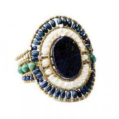 Brazalete Ziio jewelry BR SUN LG LAPIS Mujer Plata Dorado Lapislázuli