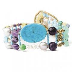 Brazalete Ziio jewelry BR THIN TURQUOISE Mujer Plata Dorado Perla