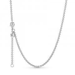Cadena Pandora Eslabones Redondos 399260C00-60 mujer plata
