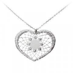 Cadena y colgante Stroili 1506641 Mujer Metal Plateado Corazón