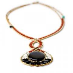 Cadena y colgante Ziio jewelry PDT INFINITO ONIX Mujer Plata Negro Ónix