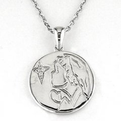 Cadena y medalla Bernat Rubí 6N622 Niña Plata Diamantes Comunión