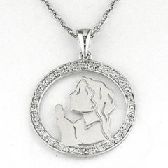 Cadena y medalla Bernat Rubí 6N623 Niña Plata Diamantes Comunión