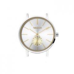 Caja reloj WATXANDCO WXCA1002 unisex plateada brillante