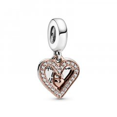 Cham colgante Pandora 788693C01 Plata primera ley Mujer Corazón Brillante