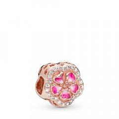 Cham Pandora 788079CZ mujer plata rosé circonita y esmalte.