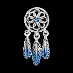 Charm atrapasueños azul Pandora 799341C01 plata