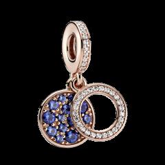 Charm colgante Pandora Disco Azul 789186C01 mujer Rosé