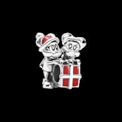 Charm gift box Pandora Mickey de Disney y Minnie 799194C01 mujer plata