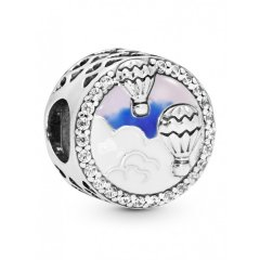 """Charm Pandora 798061CZ """"Live life in the clouds"""""""