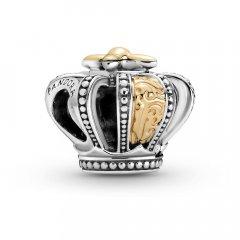 Charm Pandora 799340C00 corona real plata y oro